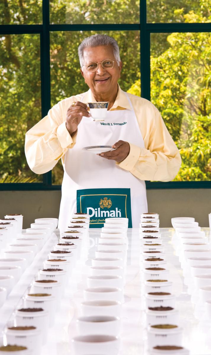 Merrill J Fernando - The Dilmah range includes black, flavoured, oolong, green, white, herbal, organic, decaf and chai teas
