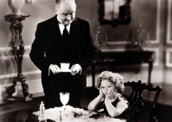 American 'child star' film actress Shirley Temple in a scene from the 1936 classic The Poor Rich Girl. She made her film debut at the age of three, during the American depression years